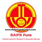 RAIFR Pune Recruitment 2020 Govt Jobs In Regional Ayurveda Institute for Fundamental Research