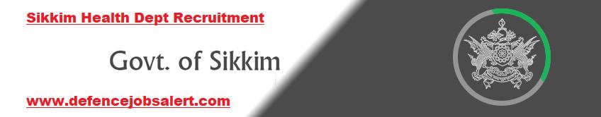 Sikkim Health Dept Recruitment