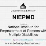 NIEPMD Recruitment