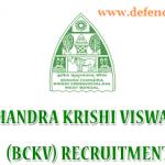 BCKV Recruitment 2021 - Jobs For Senior Research Fellow and Junior Research Fellow 02 Posts