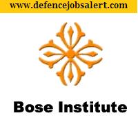 Bose Institute Recruitment