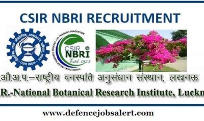 NBRI Recruitment