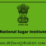 NSI Kanpur Recruitment 2021 - Latest Jobs Notification In National Sugar Institute