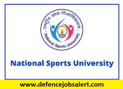 National Sports University Recruitment