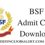 BSF Head Constable RO/RM Admit Card 2021 - Call Letter Download