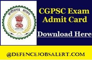 CGPSC Admit Card