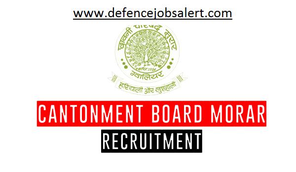 Cantonment Board Morar Recruitment