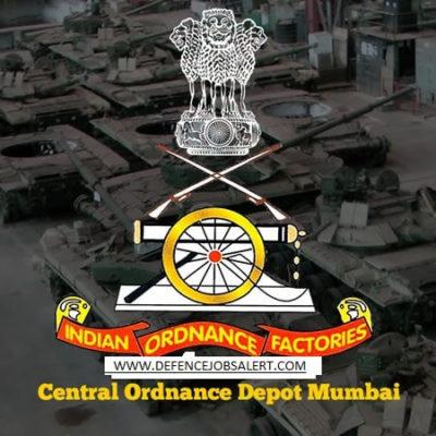 Central Ordnance Depot Mumbai Recruitment