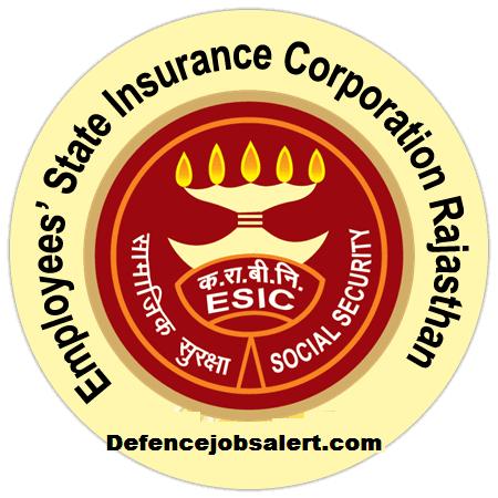 ESIC Rajasthan Recruitment