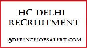 HC Delhi Recruitment