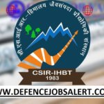 IHBT Recruitment 2021 - 14 Project Associate I, II, Field Worker & Project Asst Posts