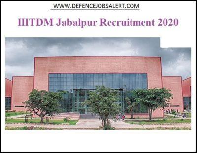 IIITDM Jabalpur Recruitment
