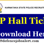 KSP SI (Wireless) Admit Card 2021 – Medical Exam Call Letter Download