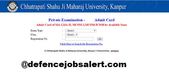 Kanpur University Admit Card