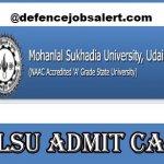 MLS University Admit Card 2021 | Download मोहनलाल सुखदिआ यूनिवर्सिटी प्रवेश पत्र