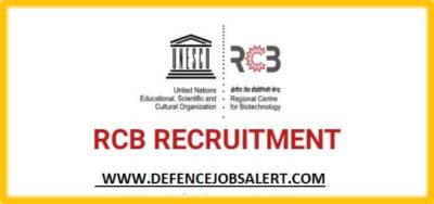 Regional Centre for Biotechnology (RCB) Recruitment