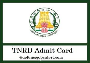 TNRD Admit Card
