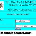 Telangana University Admit Card 2021 | Download सतवाहन यूनिवर्सिटी प्रवेश पत्र
