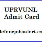 UPRVUNL Admit Card 2021 | Download उत्तर प्रदेश राज्य विद्युत उत्पादन निगम लिमिटेड प्रवेश पत्र