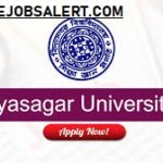 Vidhyasagar University Recruitment 2021-Junior Research Fellow Vacancies