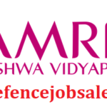 Amrita Vishwa Vidyapeetham Kerala Recruitment 2021 - Jobs In Kerala