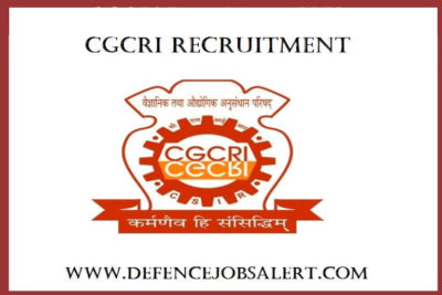 CGCRI Recruitment