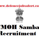 CMOH Samba Pharmacist Recruitment