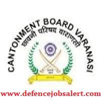 Cantonment Board Varanasi Recruitment