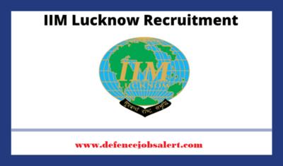 IIM Lucknow Recruitment