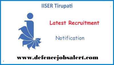 IISER Tirupati Recruitment
