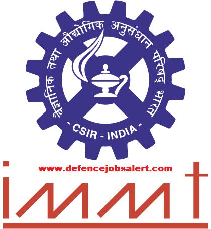CSIR-IMMT Bhubaneswar Recruitment