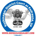 Kushinagar District Court Recruitment 2021 - Upcoming Jobs