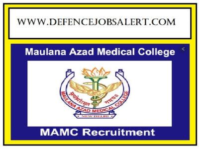 MAMC Delhi Recruitment