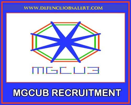 MGCUB Recruitment