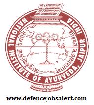 National Institute of Ayurveda (NIA) Recruitment