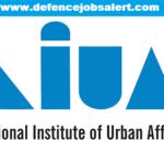 NIUA Recruitment