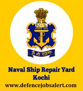 Naval Ship Repair Yard Kochi Recruitment
