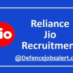 Reliance Jio Recruitment 2021 for Graduate Engineer Trainee | B.E/B.Tech | Bangalore