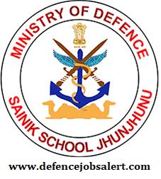Sainik School Jhunjhunu Recruitment