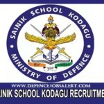 Sainik School Kodagu Recruitment
