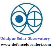 Udaipur Solar Observatory Recruitment