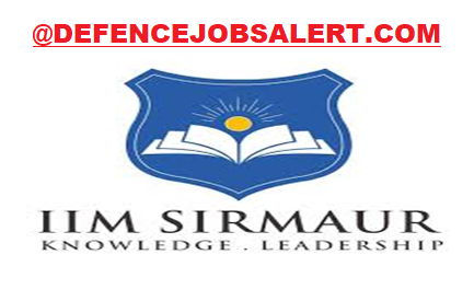 IIM Sirmuar Recruitment