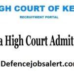 Kerala High Court Admit Card 2021 – HJS Viva Voce Admit Card Download