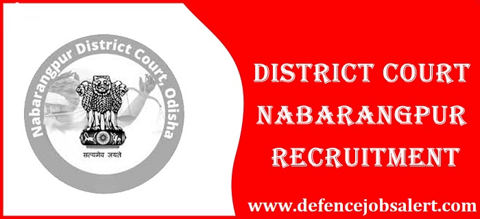 Nabarangpur District Court Recruitment