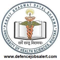 Pt BD Sharma University Recruitment