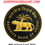 RBI Office Attendant Admit Card 2021 – Call Letter Download