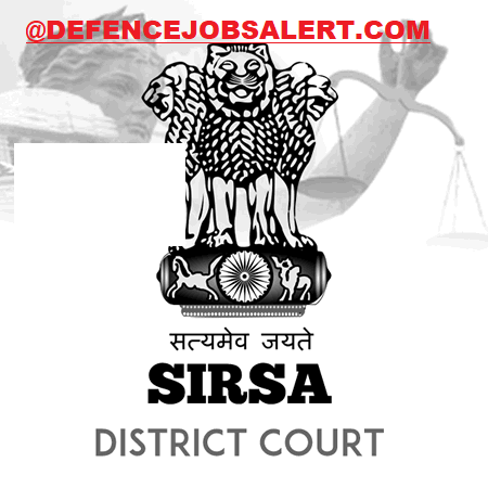Sirsa District Court Recruitment