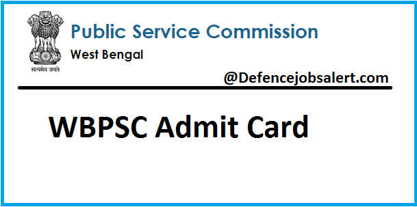 WBPSC Pharmacist Gr III Admit Card