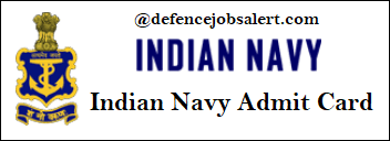 Indian Navy Tradesman Mate Admit Card
