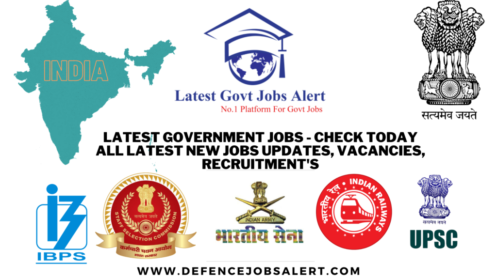 Latest Government Jobs 2021 - Check Today All Latest New Jobs Updates, Vacancies, Recruitment's